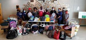 Over 1,000 Items Donated in School Supply Drive Organized by Singleton, Commissioners