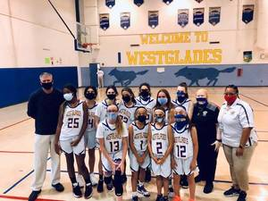 Westglades Girls Basketball Named North Division 1 District Champs; Advances in County Playoffs
