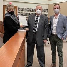 Sparta Township Council Congratulates Local Business for 50th Anniversary