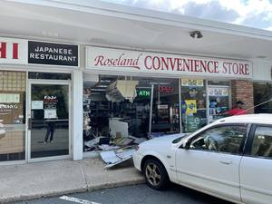 Car vs. Building Accident Damages Convenience Store in Roseland