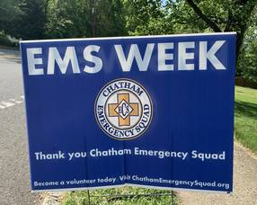 EMS Week Kicks Off May 16 - Chatham Emergency Squad Recognized with Public Proclamations