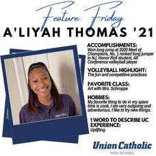 A'Liyah Thomas Excels in Two Sports at Union Catholic
