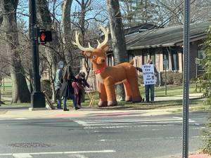 Deer Hunt Opponents Protest at Cedar Brook Park in Plainfield