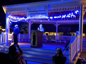 Franklin's first Ramadan lighting ceremony: Officials see charity and community as light to guide through challenging year (UPDATE)