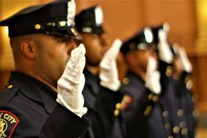 Jersey City's 17 New Police Officers Sworn in to Protect and Serve