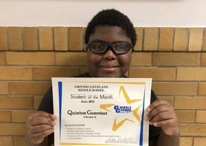 Grover Cleveland Middle School in Caldwell Names June Students of the Month