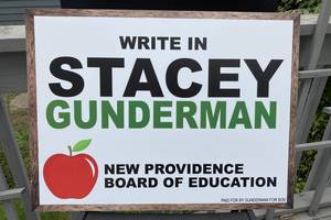 Write in Stacey Gunderman for New Providence Board of Education