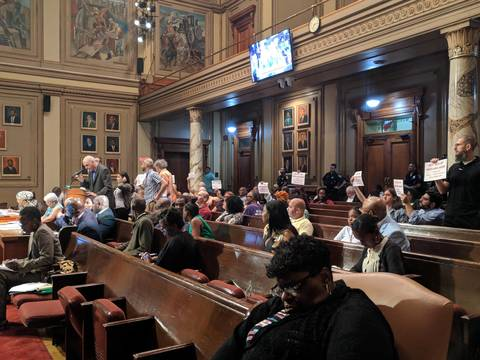 Protesters Demand Newark City Council to Oppose Essex
