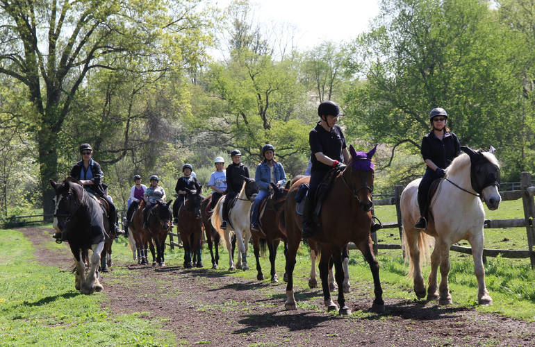 Introductory Ride at Lord Stirling Stable