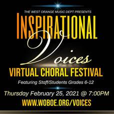 'Inspirational Voices: A West Orange Choral Festival' Virtual Concert Feb. 25