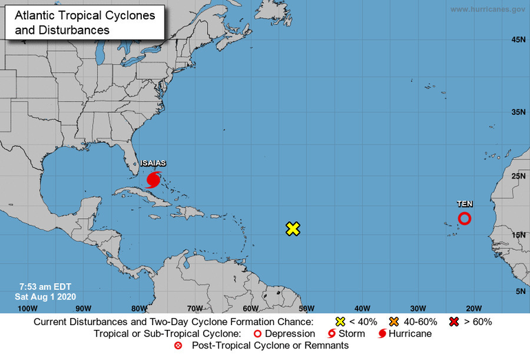 Atlantic Tropical Cyclones and Disturbances