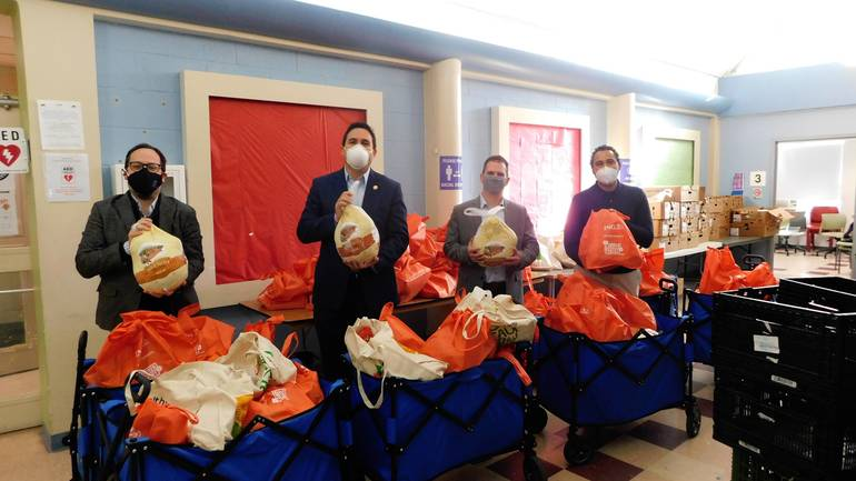 Isaacs Center Distributes Over 400 Turkeys to Families