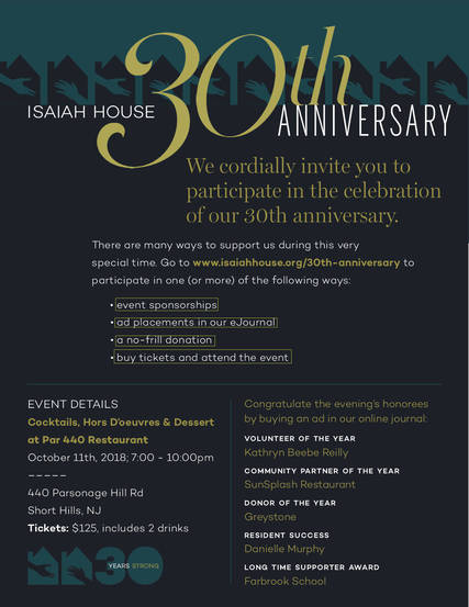 Top story c8a888424ba59182a82a isaiah house 30 anniversary