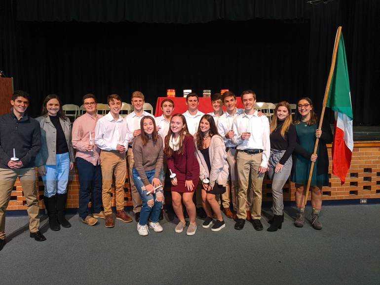Scotch Plains-Fanwood High School Italian Honor Society 2019 inductees.
