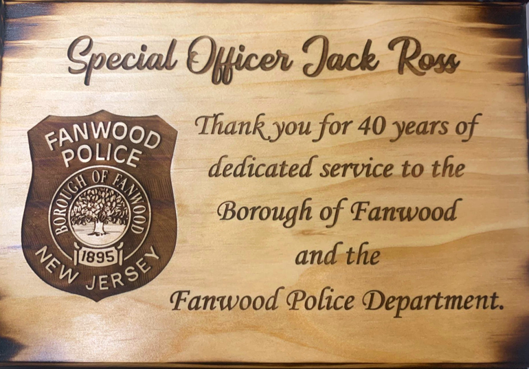 Special Officer Jack Ross has served the Borough of Fanwood for over 40 years.
