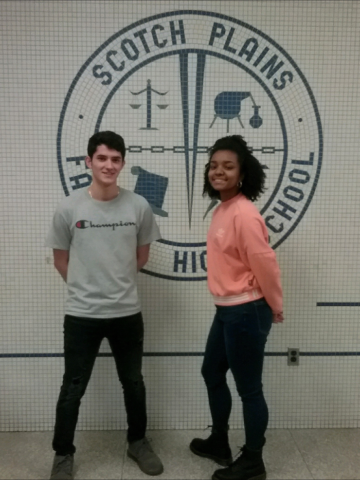 Scotch Plains-Fanwood High School Students of the Month for January 2020.