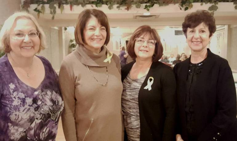 President Jane Rundella, new member Maureen Abbruzzese, Jean Tietjen, and Joanne Stogoski