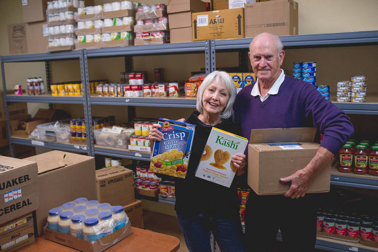 Donate food or money to buy food to Project Self-Sufficiency.