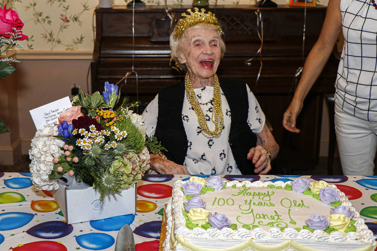 Jane Randall celebrated her 100th birthday at her home at The Chelsea at Fanwood on Thursday, July 18, 2019.