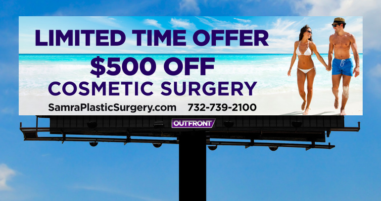 Don't Miss Your Samra Plastic Surgery Savings! $500 Off Cosmetic Surgery, Now thru May 31st!