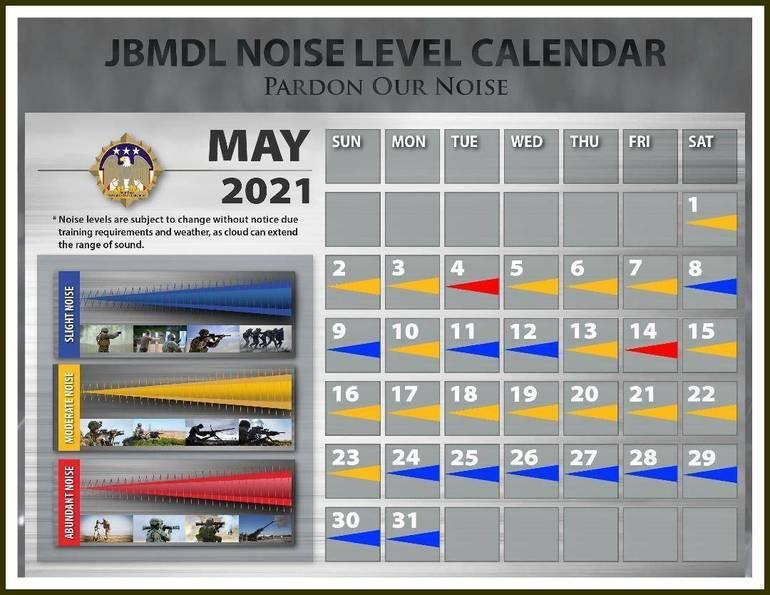 Pardon Our Noise: JBMDL Releases May Noise Level Calendar