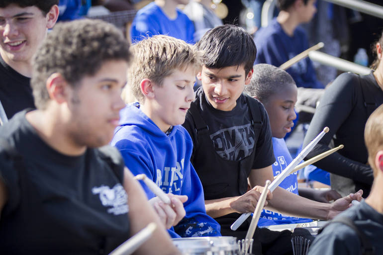 """Raiders Marching Band Hosts """"Biggest Band in the Land"""", Wins Competition"""