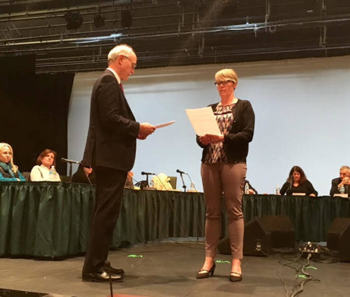 Jen Korn sworn onto BOE