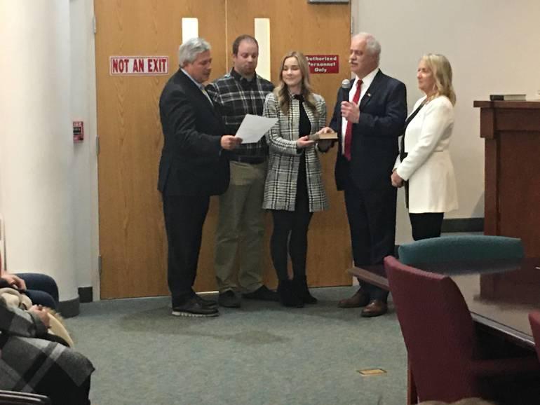 Jeffrey Kuhl is sworn in as mayor.