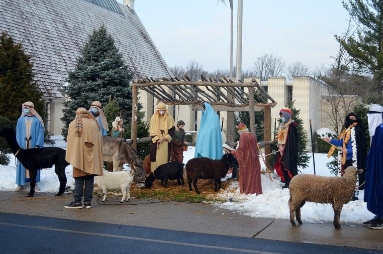 Live Nativity scene at IHM in Scotch Plains