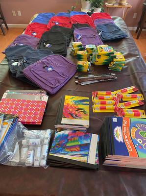 Donations of School Supplies to Jersey City Schools