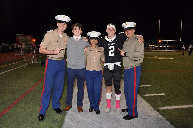 Brendan Hughes and Colton Rousseland, who have enlisted in the Marines