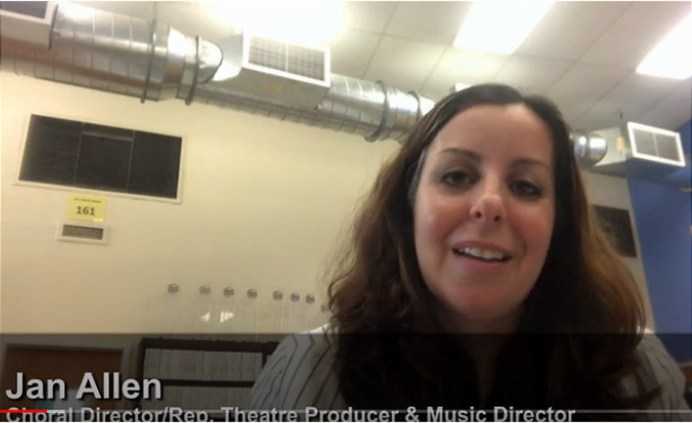 Joan Allen, Scotch Plains-Fanwood District choral director and Repertory Theatre music director