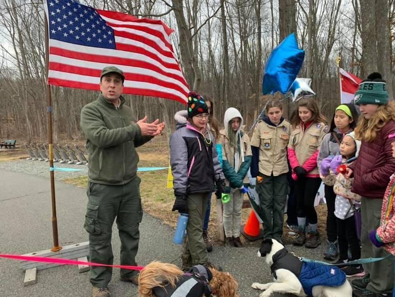 Joe Basralian helps launch the First Day Walk - Dogs Welcome - 1.1.20.jpg