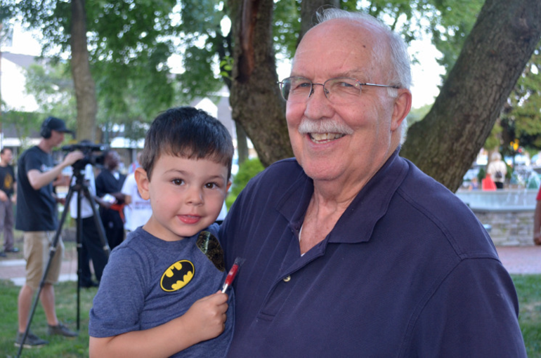 Joe McCourt and his grandson at Scotch Plains National Night Out.png