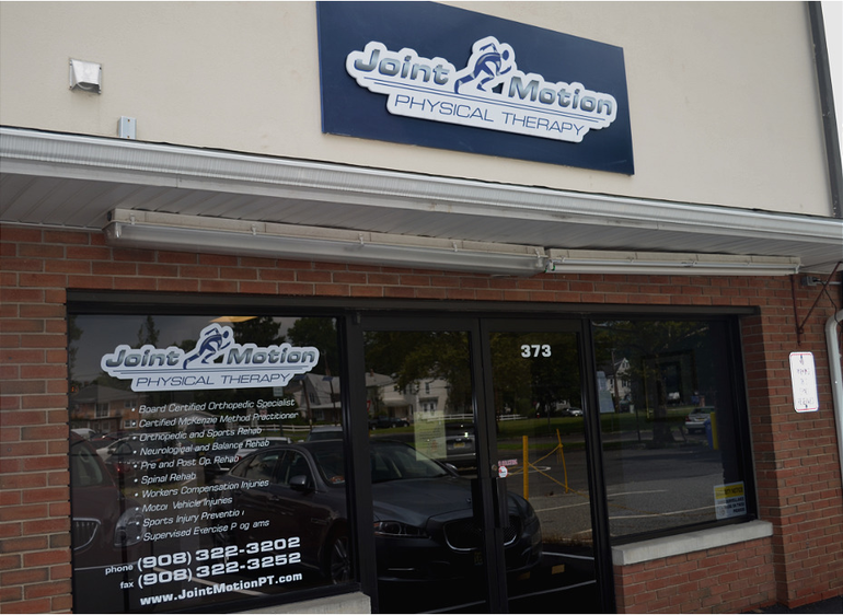 Joint Motion Physical Therapy in Scotch Plains (back entrance).