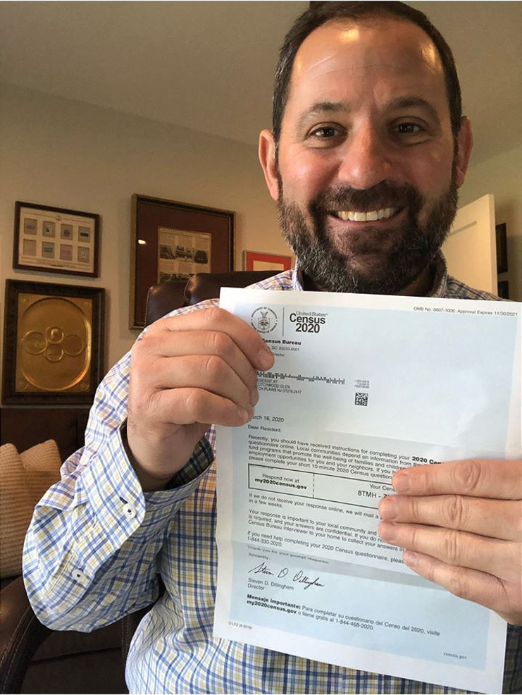 Scotch Plains Deputy Mayor Josh Losardo filled out his 2020 Census.