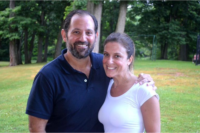 Scotch Plains Deputy Mayor Josh Losardo with his wife, Stacey.