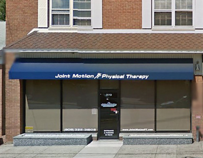 Joint Motion Physical Therapy in Scotch Plains (front entrance).