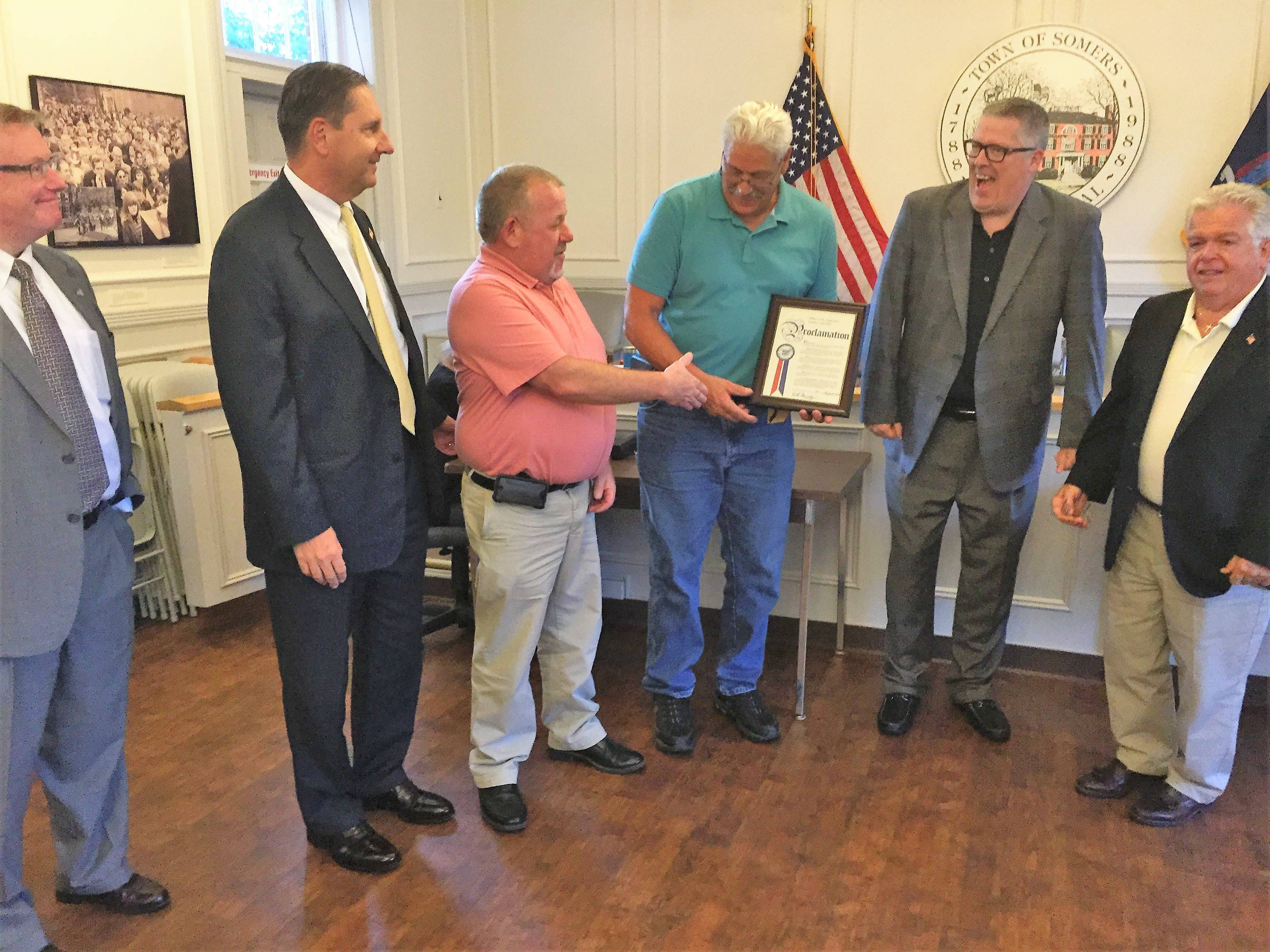 Outgoing Deputy Louis Noto Honored