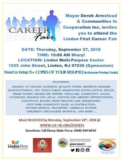 linden first holds job fair on september tapinto