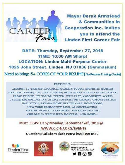Linden First Holds Job Fair on September - TAPinto