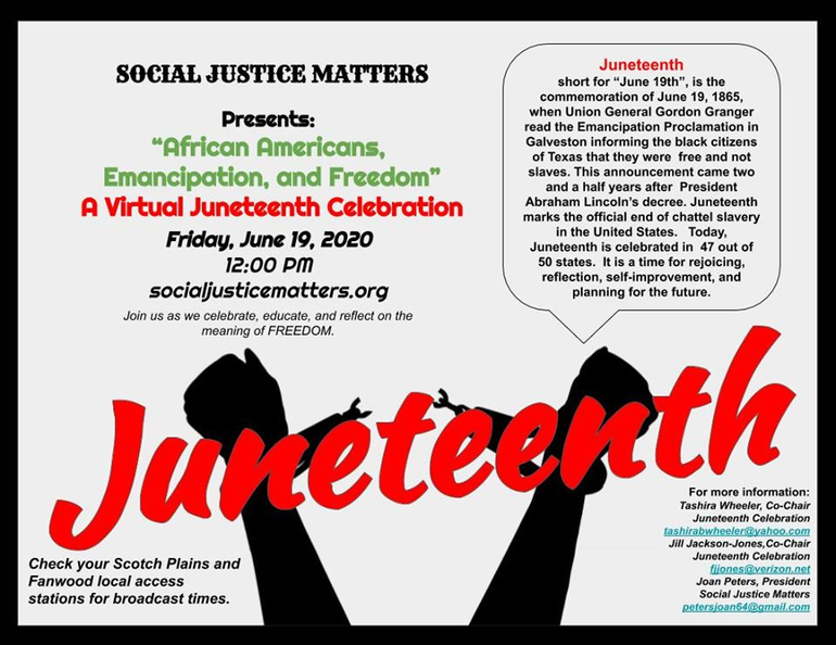 Juneteenth celebration in Scotch Plains will be June 19