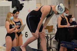 Carousel image 231b766838b8ed60f41d julia mcgann about to swim the 200 freestyle vs. spf
