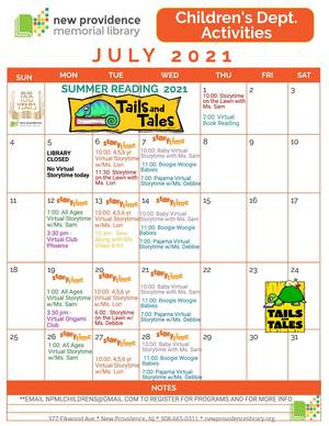 Summer Lineup at the NP Library