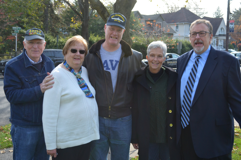 Kathy Mitchell -Trish Walsh-Tom Kranz with former Councilmembers 11-11-19.png