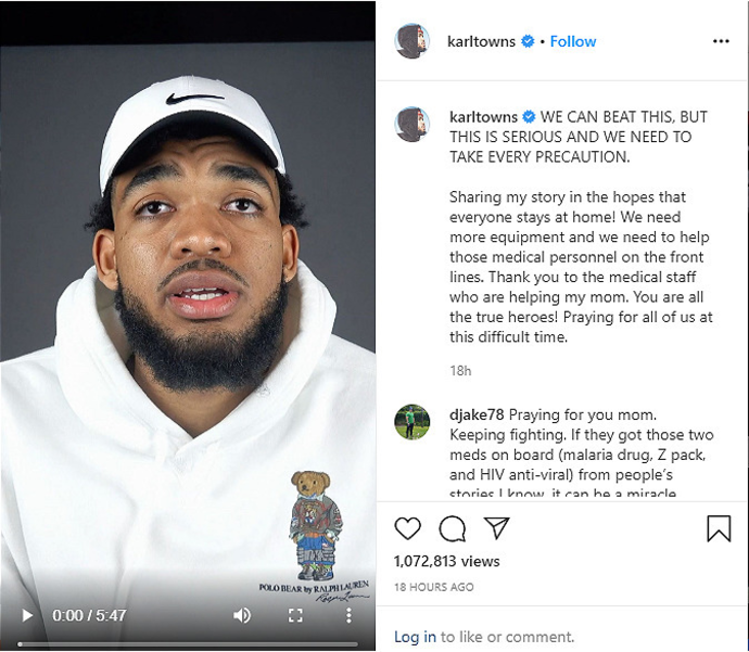 Karl Towns instagram.png