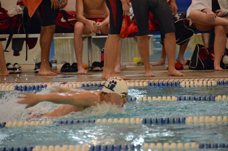 Mark Albarez placed 1st in the 200 IM