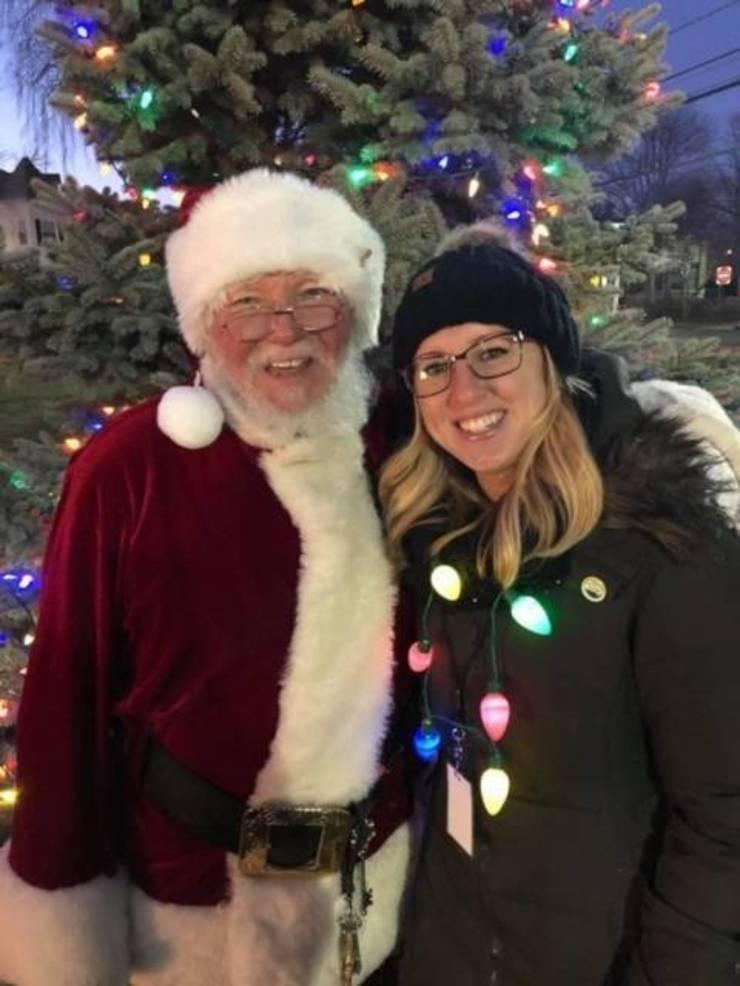 Kelly Daley with Santa