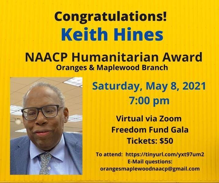 Livingston's Keith Hines to Receive Humanitarian Award by Oranges & Maplewood NAACP
