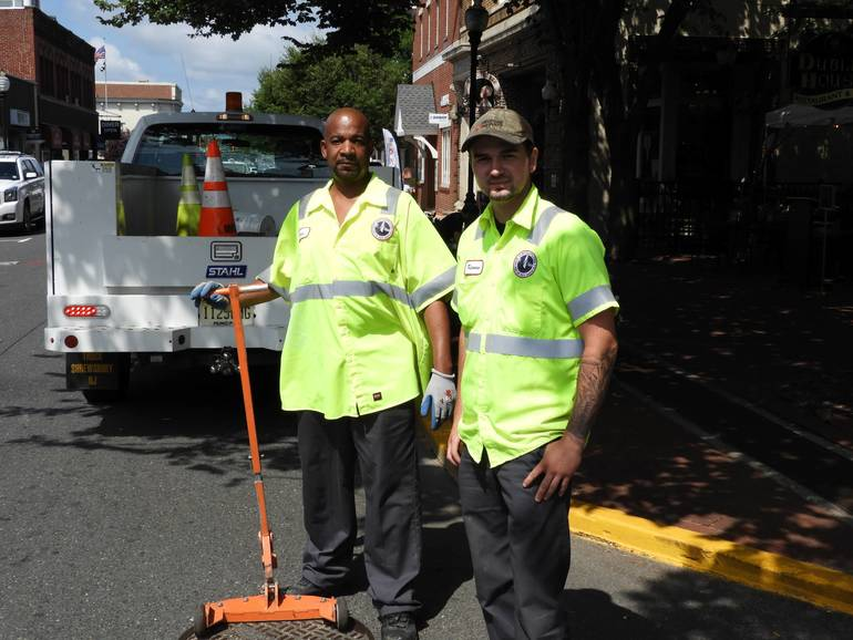 Kevin Rogers with Keenan Morin, Red Bank Water and Sewer Maintenance Employees.jpg